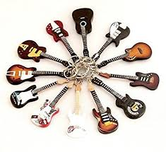 Keychain guitar collection